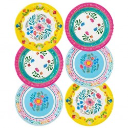 Boho Floral Paper Plates, Boho Party, Summer Party Plates