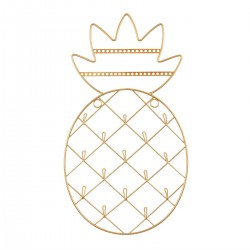 Gold Pineapple Wall Mounted Jewellery Holder
