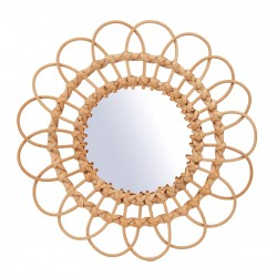 Rattan Mirror Large