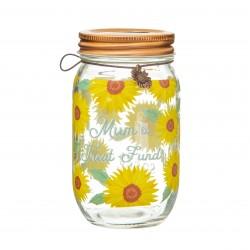 Sunflower Mum Money Jar