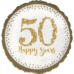 "Sparkling Golden Anniversary Foil Balloons 18"""