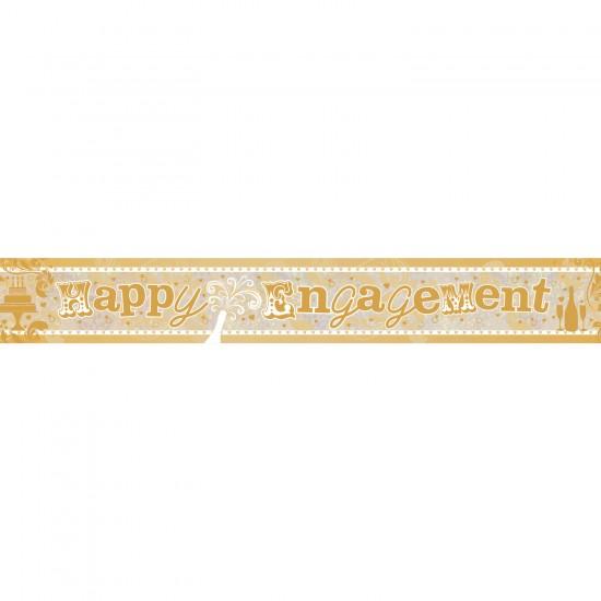 Happy Engagement Holographic Foil Banners 2.7m