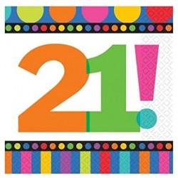 21st Birthday Napkins