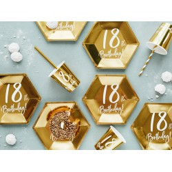 Gold 18th Birthday Party Plates