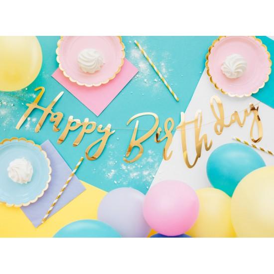 Gold Happy Birthday Bunting