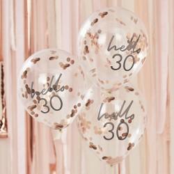 Hello 30 Birthday Balloons