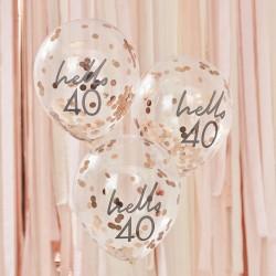 Hello 40 Birthday Balloons