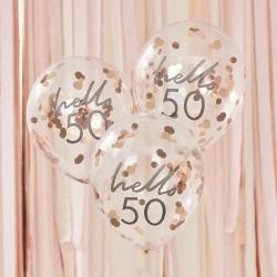 Hello 50 Birthday Balloons