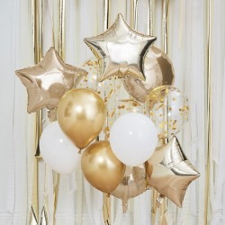Metallic Gold Balloons Bundle