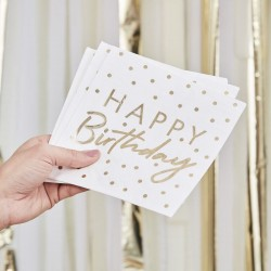 Gold Foiled Happy Birthday Napkins