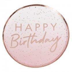 Ombre Happy Birthday Plates