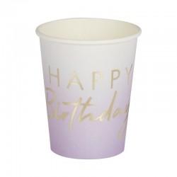 Lilac Happy Birthday Cups