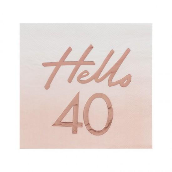 Hello 40 Birthday Party Napkins
