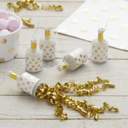 Gold Foiled Polka Dot Party Poppers