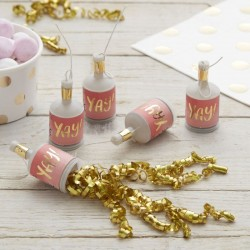 Pink Ombre Gold Foiled Yay! Poppers