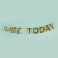 One Today Gold Glitter Banner