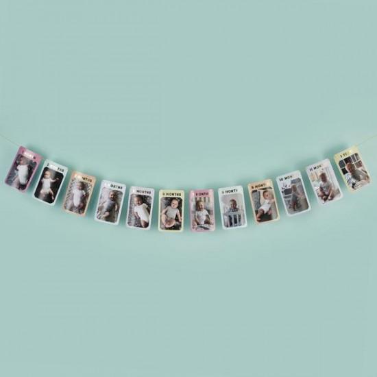 12 Month Milestone Photo Bunting
