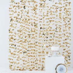 Gold Backdrop Flower Curtain