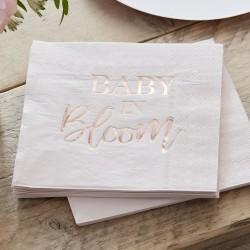 Rose Gold Baby Shower Napkins