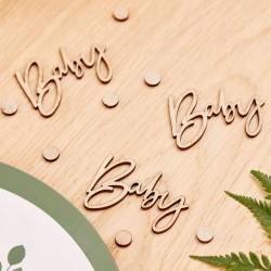 Wooden Baby Shower Confetti