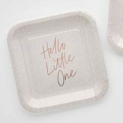 Hello Little One Paper Plates