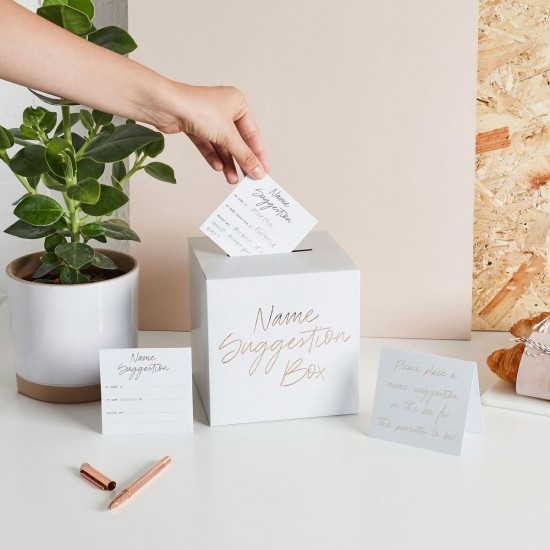 Baby Name Suggestion Box / Baby Shower Name Prediction Cards