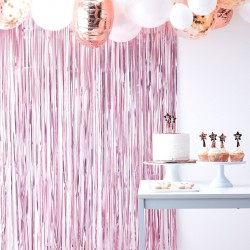 Matt Pink Fringe Curtain Backdrop