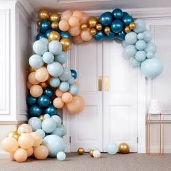 Luxe Teal And Gold Chrome Balloon Arch Kit