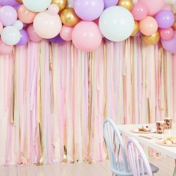 Pastel Streamer & Balloon Backdrop