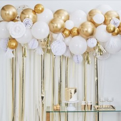 Gold Balloon And Fan Garland