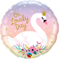 Oh Lovely Day Swan Balloon