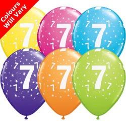 Age 7 Multicoloured Latex Balloons