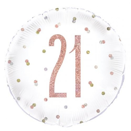21st Birthday Rose Gold Foil Balloon