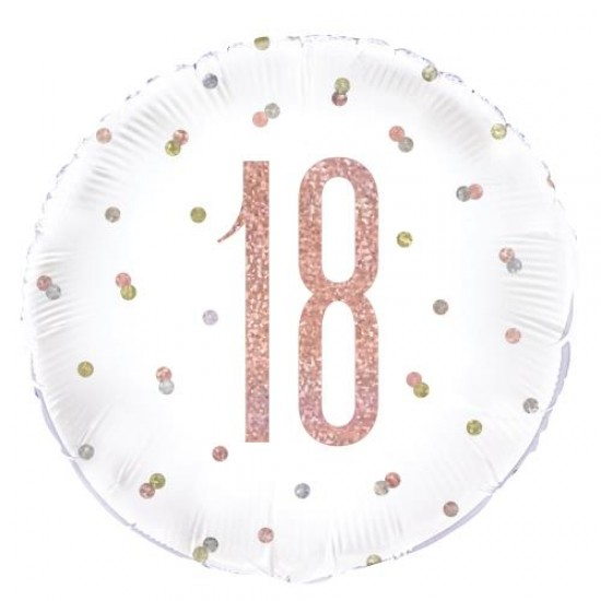 18th Birthday Rose Gold Foil Balloon