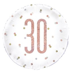 30th Birthday Rose Gold Foil Balloon