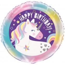 "Unicorn Party Foil Birthday Balloon 18"""