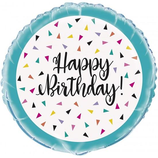 Happy Birthday Confetti Printed Balloon