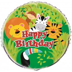 """Animal Jungle Party Balloon 18"""" Foil"""