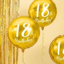 Gold 18th Birthday Foil Balloon