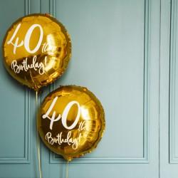 Gold 40th Birthday Foil Balloon