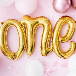 Gold One 1st Birthday Balloon