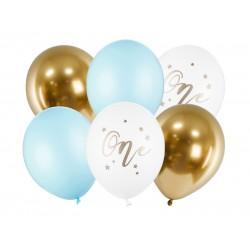 First Birthday Latex Balloons