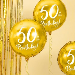 Gold 50th Birthday Foil Balloon