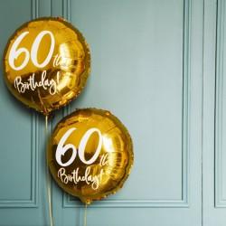 Gold 60th Birthday Foil Balloon