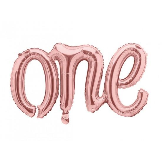 Rose Gold One 1st Birthday Balloon