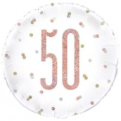 50th Birthday Rose Gold Foil Balloon