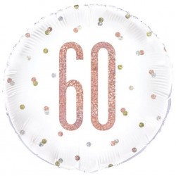 60th Birthday Rose Gold Foil Balloon