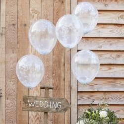 White Confetti Balloons