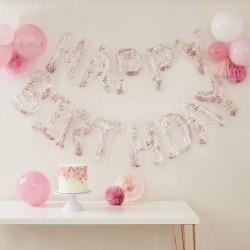 Confetti Birthday Balloons Banner