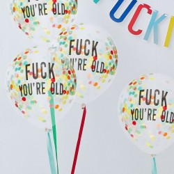 Naughty Party Confetti Balloons